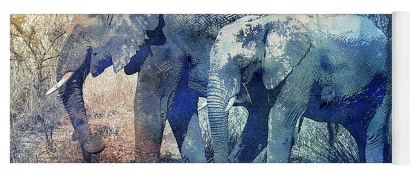 Two Elephants Yoga Mat