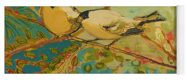 Two Goldfinch Found Yoga Mat