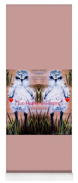 Two Hearts Peeping Yoga Mat