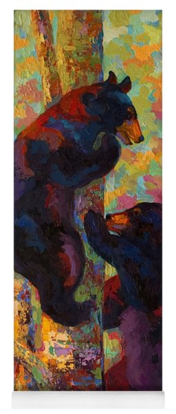 Two High - Black Bear Cubs Yoga Mat