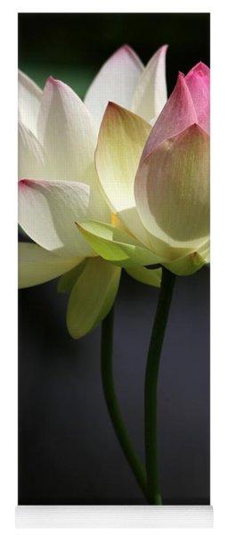 Two Lotus Flowers Yoga Mat