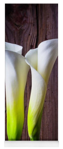 Two Lovely Calla Lilies Yoga Mat