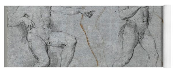 Two Male Nudes And Separate Studies Of A Leg A Left Arm And A Right Hand Yoga Mat
