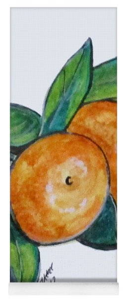 Two Oranges Yoga Mat