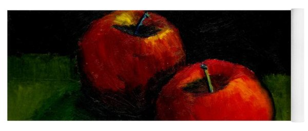 Two Red Apples Still Life Yoga Mat