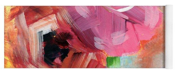 Two Roses- Art By Linda Woods Yoga Mat