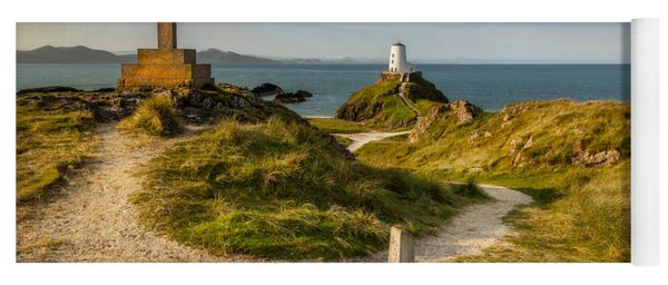 Yoga Mat featuring the photograph Twr Mawr Lighthouse by Adrian Evans
