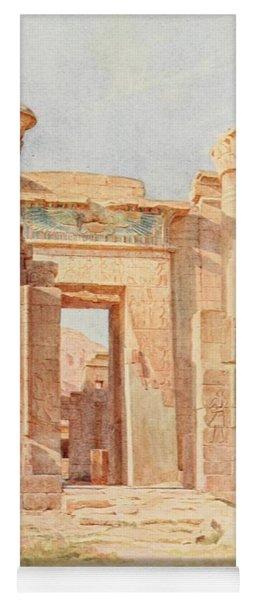Tyndale, Walter 1855-1943 - Below The Cataracts 1907, The Ptolemaic Pylon, Medinet Habu Yoga Mat