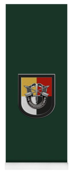 U. S.  Army 3rd Special Forces Group - 3  S F G  Beret Flash Over Green Beret Felt Yoga Mat