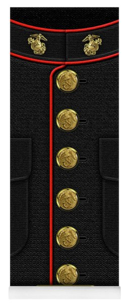 U S M C Dress Uniform Yoga Mat