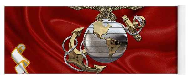 U. S.  Marine Corps - U S M C Eagle Globe And Anchor Over Corps Flag Yoga Mat