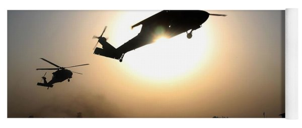 Uh-60 Black Hawk Helicopters Yoga Mat