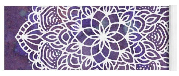 Ultraviolet Mandala Yoga Mat