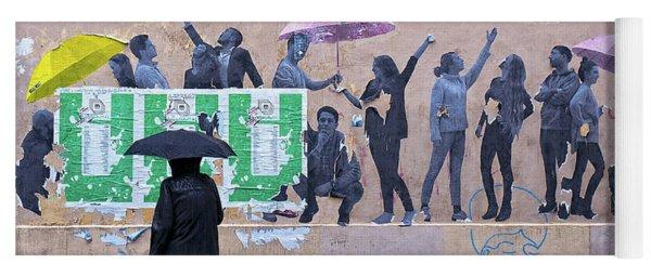 Umbrellas In Paris Yoga Mat