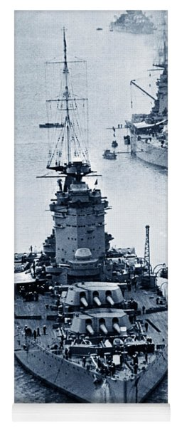 Hms Nelson And Hms Rodney Battleships And Battlecruisers Hms Hood Circa 1941 Yoga Mat
