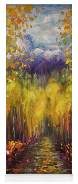 Uncompahgre National Forest Palette Knife Painting  Yoga Mat