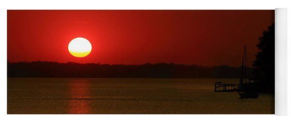 Yoga Mat featuring the photograph Under A Red Sunset by Joseph C Hinson Photography
