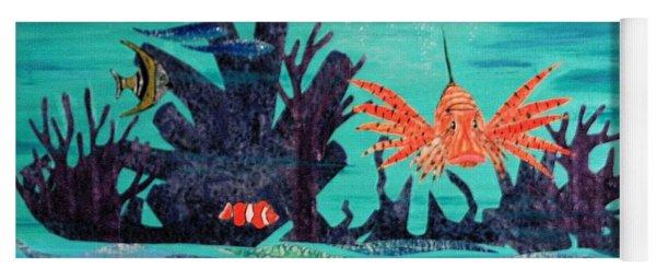 Bright Coral Reef Yoga Mat