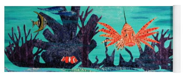 Bright Coral Reef Yoga Mat