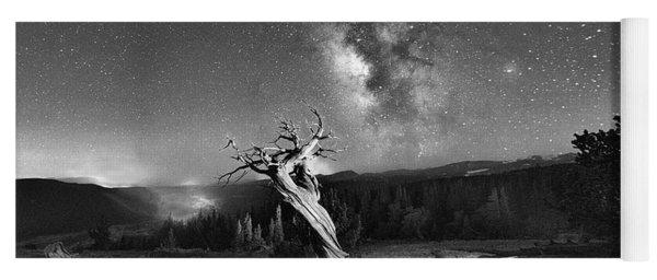 Under Starry Sky At Night  Yoga Mat