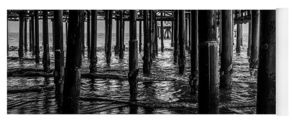 Under The Pier - Black And White Yoga Mat