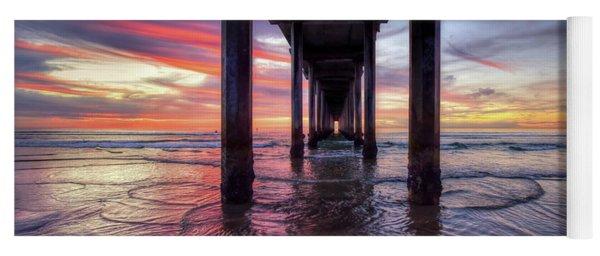 Under The Pier Sunset Yoga Mat