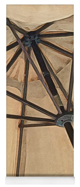 Yoga Mat featuring the painting Under The Umbrella by Marian Palucci-Lonzetta