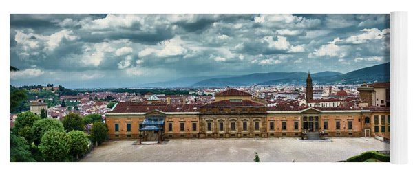 The Meridian Palace And Cityscape In Florence, Italy Yoga Mat