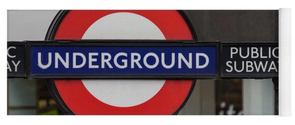 Underground Sign London Yoga Mat