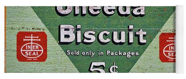 Uneeda Biscuit Vintage Sign Yoga Mat