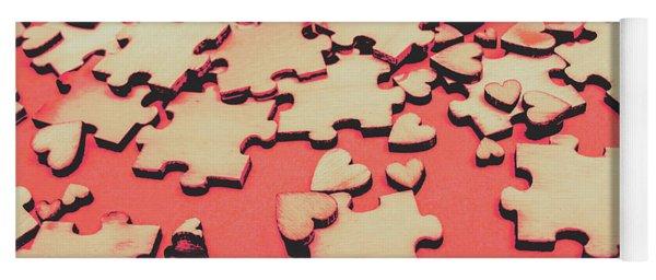Unfinished Hearts Yoga Mat