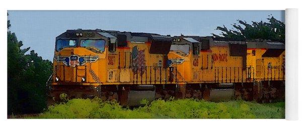 Union Pacific Line Yoga Mat