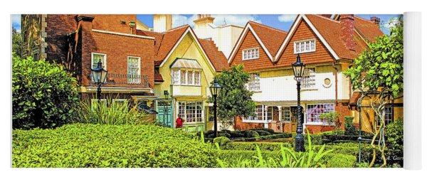 United Kingdom Buildings, Epcot, Walt Disney World Yoga Mat