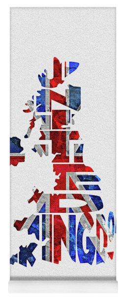 United Kingdom Typographic Kingdom Yoga Mat