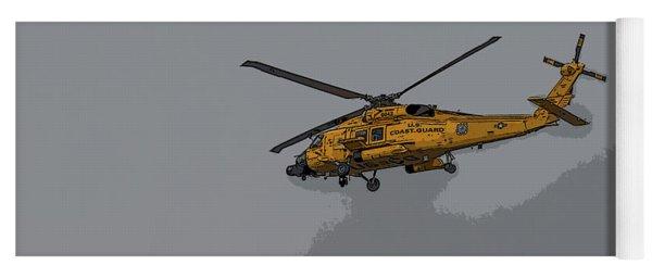 United States Coast Guard Helicopter Yoga Mat