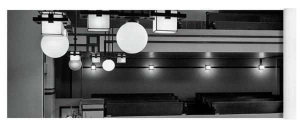 Unity Temple Interior Black And White Yoga Mat