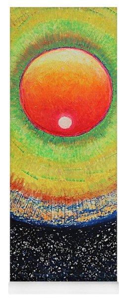 Universal Eye In Red Yoga Mat