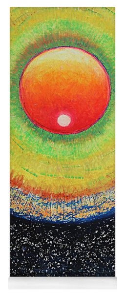 Universal Eye In Red Yoga Mat