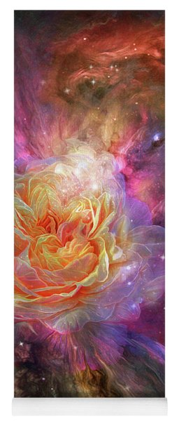 Universe Within A Rose Yoga Mat