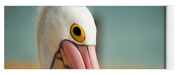 Yoga Mat featuring the photograph Up Close And Personal With My Pelican Friend by T Brian Jones