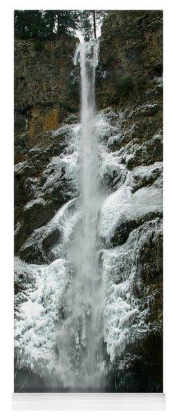 Upper Multnomah Falls Ice Yoga Mat