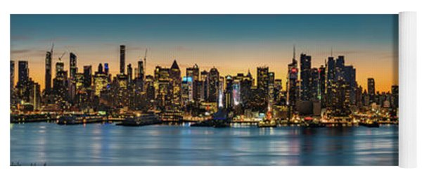 Yoga Mat featuring the photograph Uptown And Midtown At Sunrise by Francisco Gomez