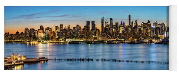 Yoga Mat featuring the photograph Uptown Skyline At Sunrise by Francisco Gomez