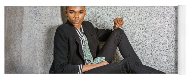Yoga Mat featuring the photograph Urban Teenage Boy Fashion 15042648 by Alexander Image