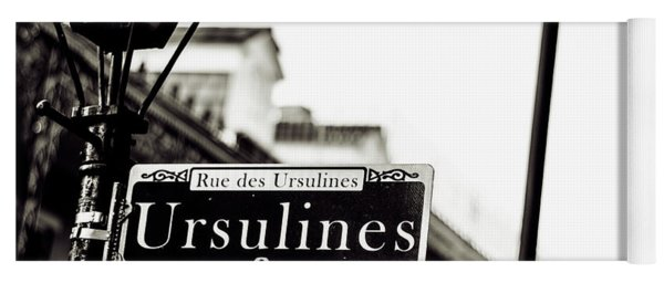 Ursulines In Monotone, New Orleans, Louisiana Yoga Mat