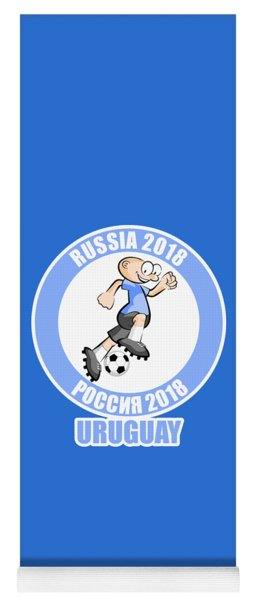 Uruguayan Soccer Player In The World Cup Yoga Mat