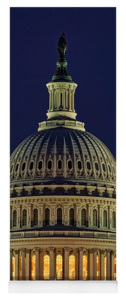 U.s. Capitol At Night Yoga Mat