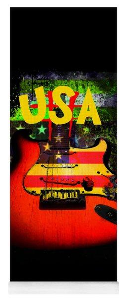Usa Guitar Music Yoga Mat