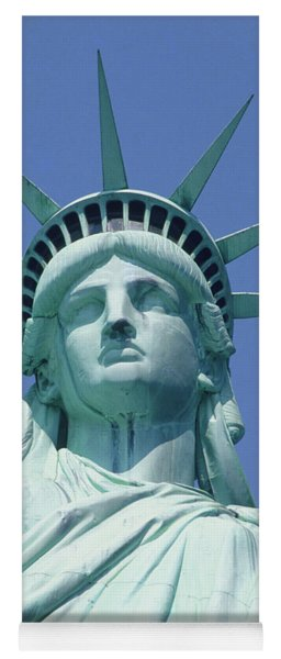 Usa, New York, Statue Of Liberty, Upper Section, Low Angle View Yoga Mat