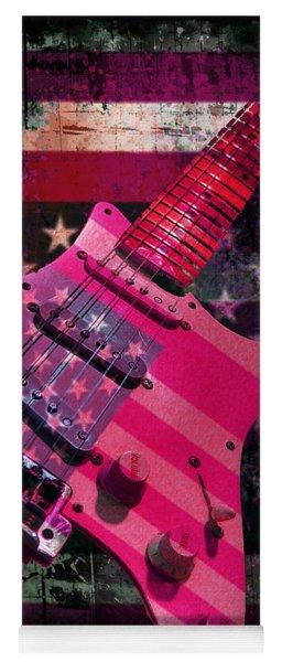 Usa Pink Strat Guitar Music Yoga Mat